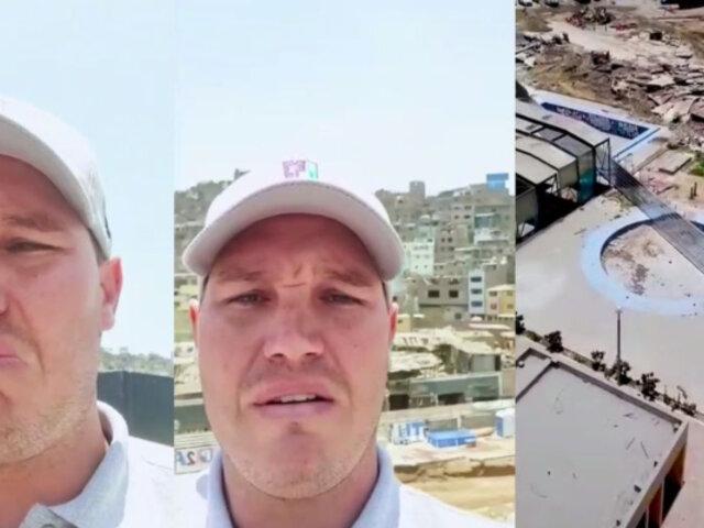 """""""¡Estoy harto!"""": la indignación de Forsyth por obras del Metro de Lima que afectan piscinas municipales"""
