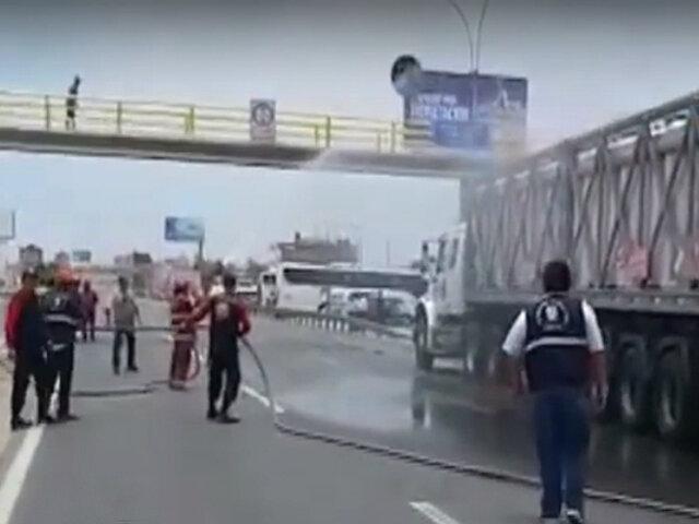 Lurín: camión de Limagas genera alarma por fuga de gas