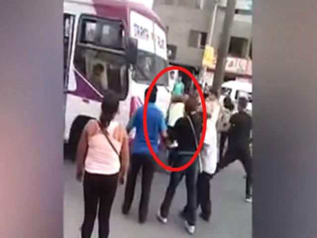 Santa Anita: conductor de bus casi atropella a una mujer para darse a la fuga