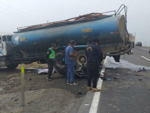 Joven muere tras impactar su motocicleta contra camión cisterna en Asia
