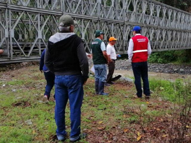 Chanchamayo: advierten del peligro de colapso de otro puente tras fuertes lluvias