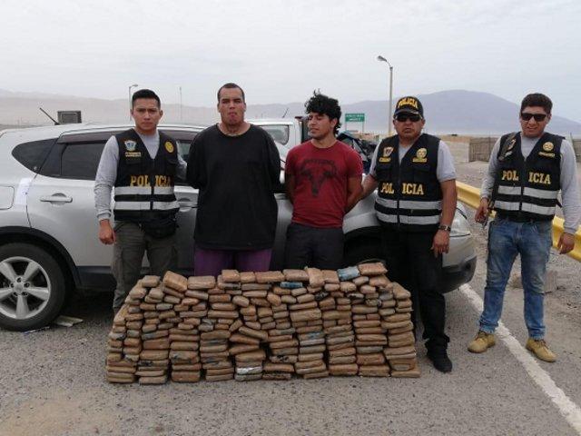 Detienen a chilenos con más de 160 kilos de marihuana en Arequipa