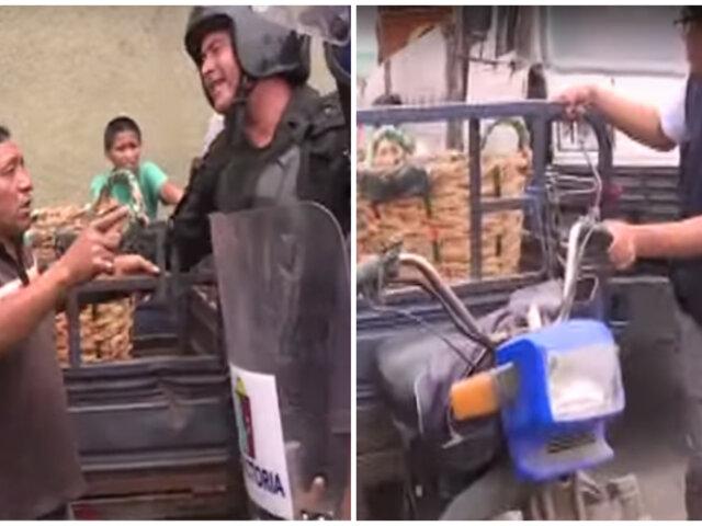 San Luis: municipio encabezó operativo para erradicar el comercio ambulatorio de principales avenidas