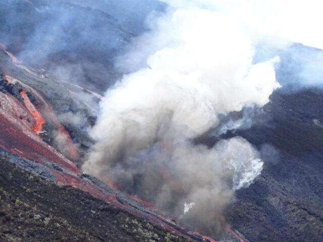 Reunión: volcán Pitón de la Fournaise entró en erupción