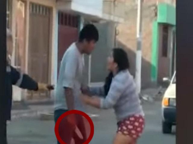 Moquegua: sujeto intentó acuchillar a su pareja en plena calle