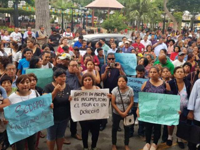 Lurín: vecinos protestan por constante falta de agua en el distrito