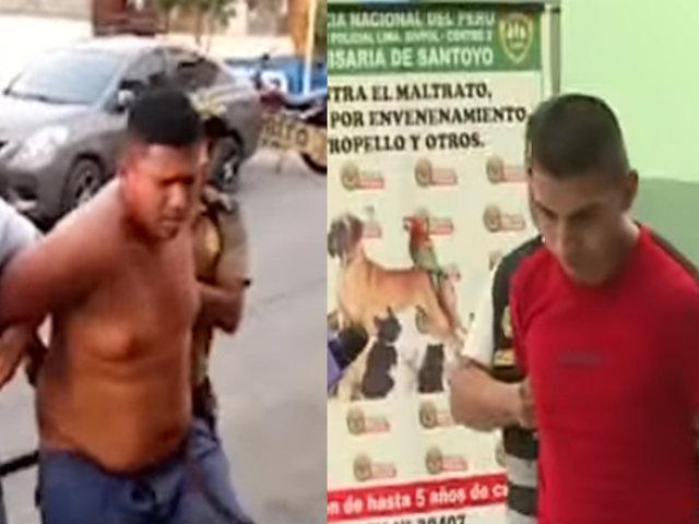 Capturan a ladrones que atemorizaban a los pasajeros de unidades de transporte público en El Agustino