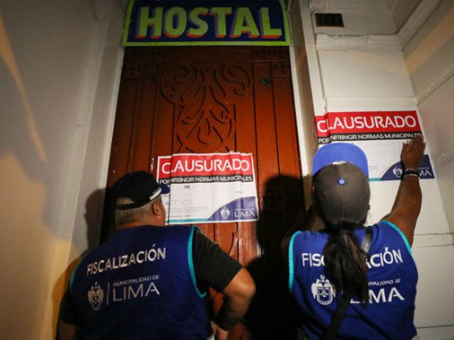 Cercado de Lima: clausuran 15 hostales previo al Día de San Valentín