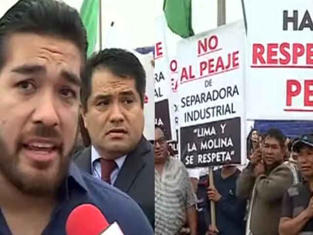 Alcalde de La Molina acudirá al TC por fallo que restablece el cobro de peaje