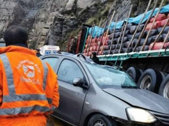 Junín: al menos tres muertos deja choque múltiple en la Carretera Central