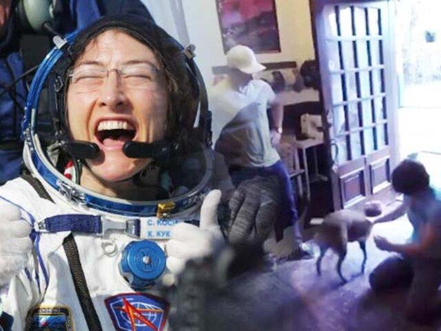 El emotivo reencuentro entre astronauta y su perro