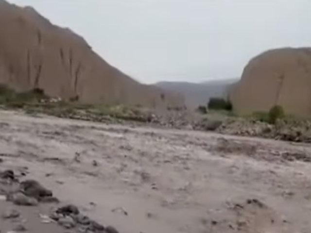 Tacna: caída de huaico provocó desborde del río Locumba
