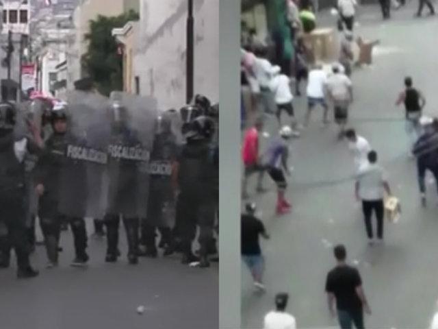 Mesa Redonda: fiscalizador resulta con cortes en cuello tras enfrentamiento con ambulantes