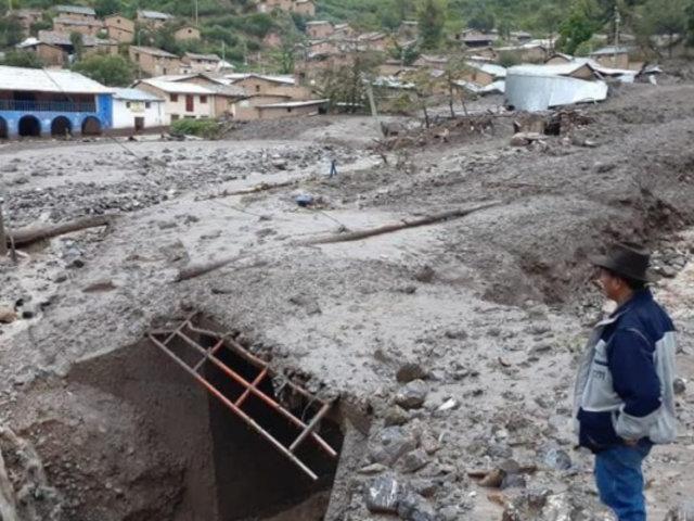 Ayacucho: huaico deja dos desaparecidos y toda una comunidad aislada