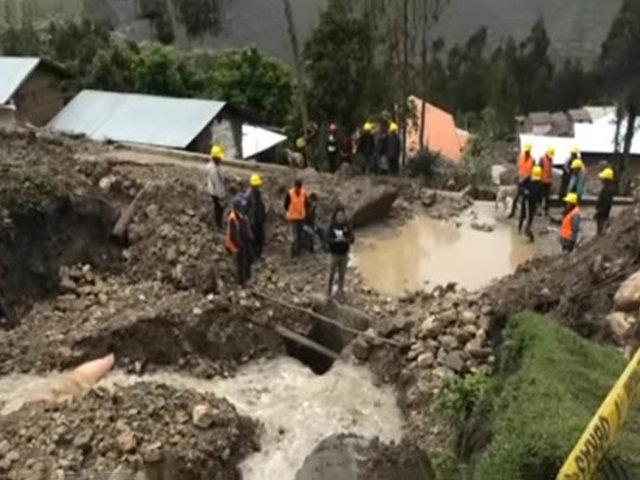 Emergencia en Áncash: huaico sepulta viviendas y colegios en Huari