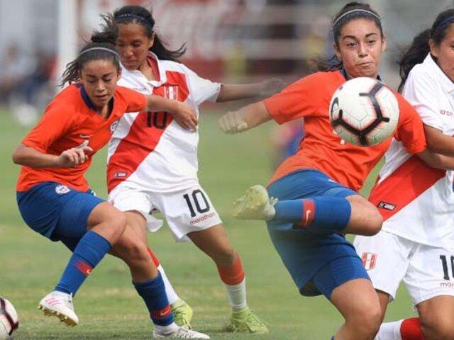 Selección peruana femenina sub 20 cayó por 7-0 ante Chile