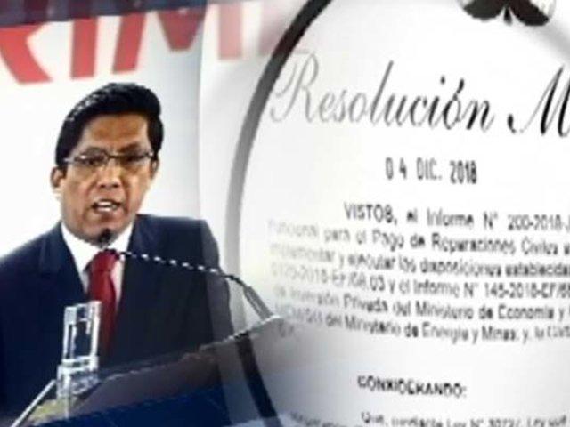 Venta de Chaglla a Odebrecht: la firma que autorizó Vicente Zeballos cuando era ministro de Justicia