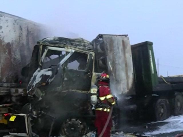 Punta Hermosa: choque provocó congestión vehicular en la Panamericana Sur