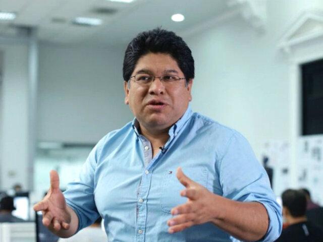 Somos Perú dará voto de confianza a Vicente Zeballos, asegura Espinoza