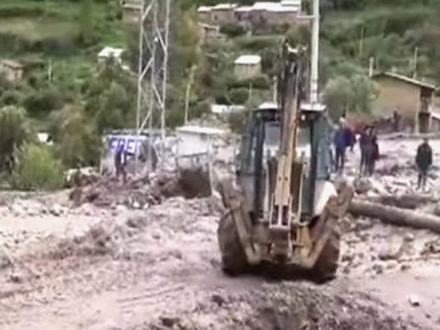 Ayacucho: autoridades piden declarar zona en emergencia tras huaico