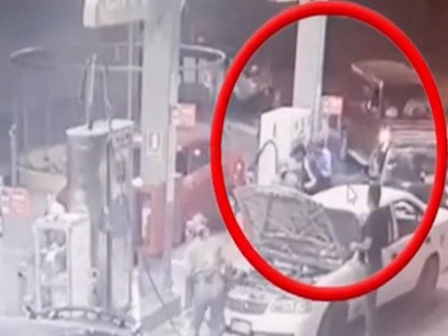Comas: delincuentes que asaltaron grifo fueron llevados a la Depincri