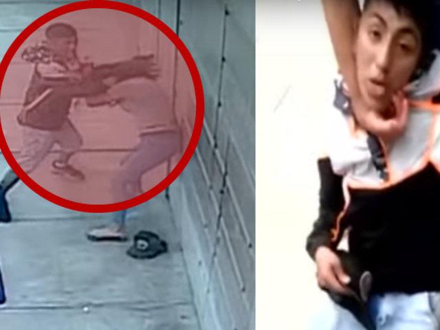 Vecinos persiguen y capturan a sujeto que agredió con desenfrenados puñetes a su pareja
