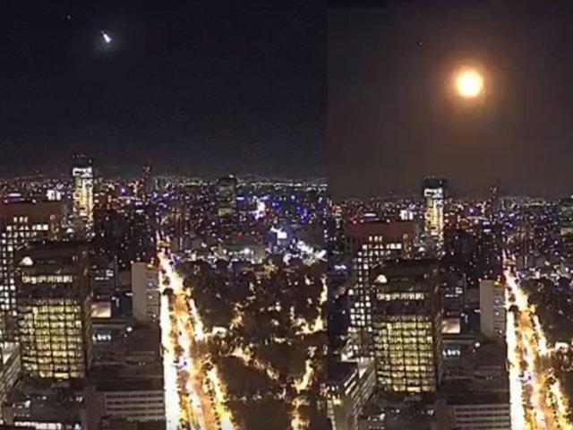 México: videos captan momento exacto en el que un meteorito explota en el cielo