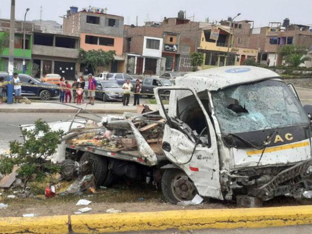 Callao: un muerto y seis heridos deja despiste y choque de camión en Ventanilla