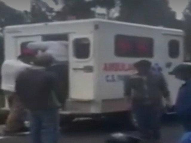 Andahuaylas: puerta de ambulancia se traba cuando intentaban evacuar a un herido