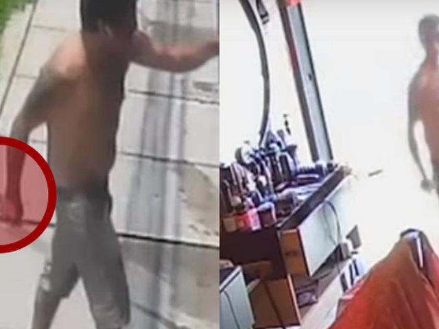 VMT: sujeto con presuntas alteraciones mentales intentó atacar a trabajadores de barbería
