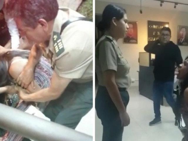 Detenida agredió a mujer policía en la puerta de la comisaría de Miraflores
