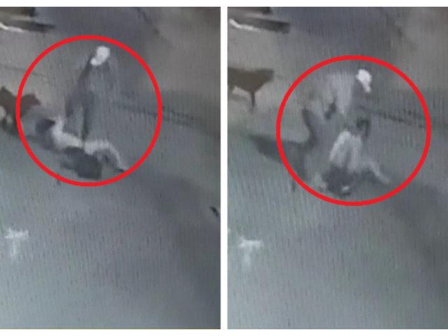 Áncash: mujer fue brutamente golpeada por hombre tras discusión en plena calle