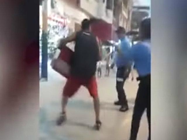 Tumbes: ambulante extranjero amenazó con golpear a fiscalizadores