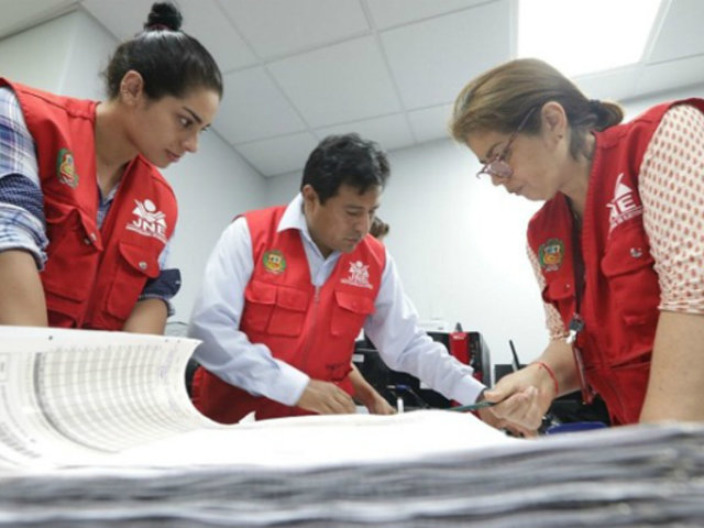 Resultados de elecciones congresales fueron proclamadas al 100% por JEE