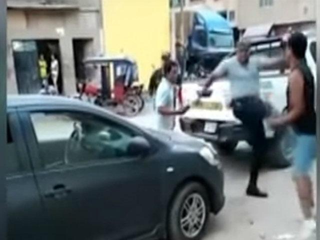 Chiclayo: Policía golpeó violentamente a un sujeto que le habría insultado
