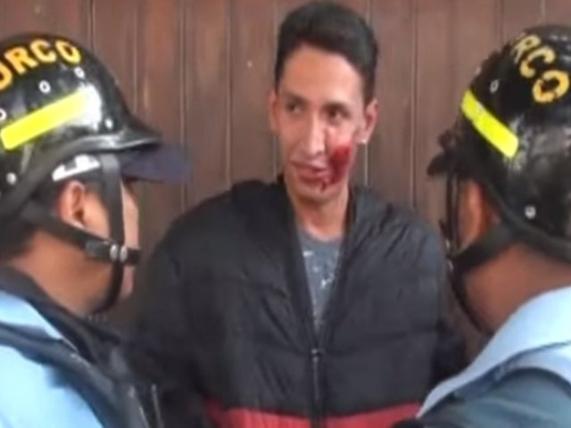 Surco: mototaxista informal embistió a sereno al fugar de intervención