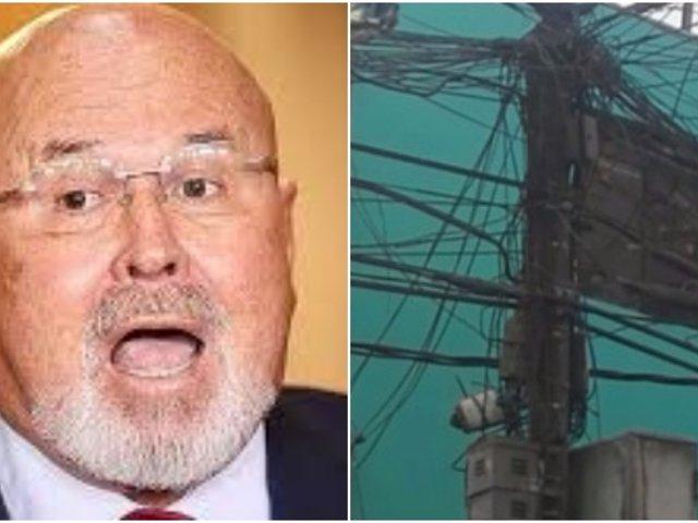 Carlos Bruce sobre maraña de cables en Lima: Las empresas competentes tienen que retirar el cableado