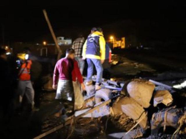 Tacna: reportan 4 muertos y 800 afectados tras caída de huaicos