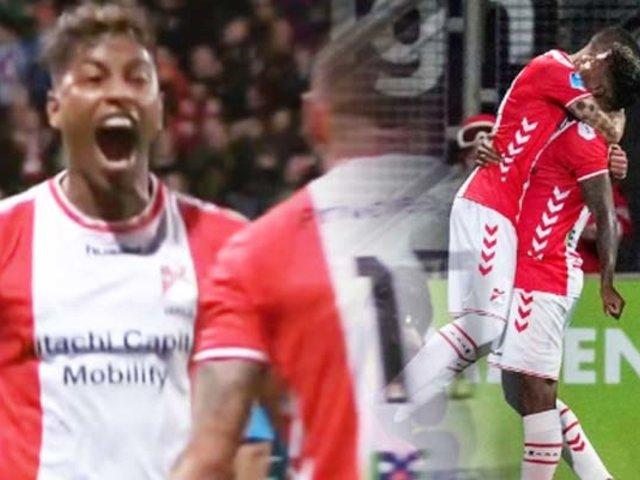 Miguel Araujo anota su primer gol con la camiseta de FC Emmen en Holanda