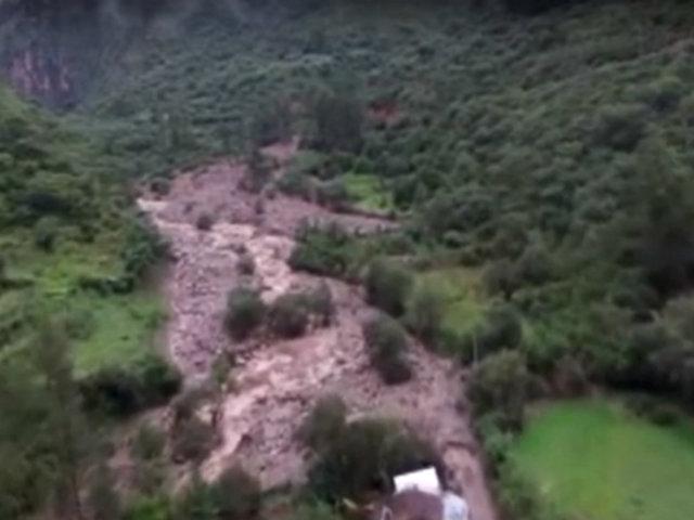 Apurímac: casas y cultivos destruidas por huaico