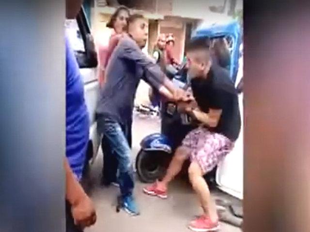 Chorrillos: víctimas de asalto embisten mototaxi de ladrones