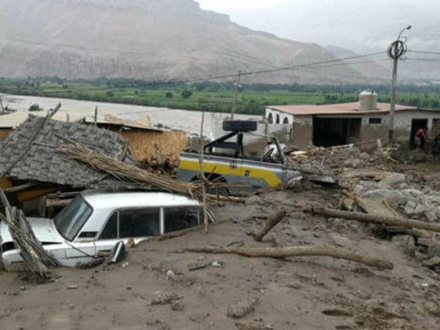 Moquegua: intensas lluvias provocaron huaicos y dejaron calles inundadas