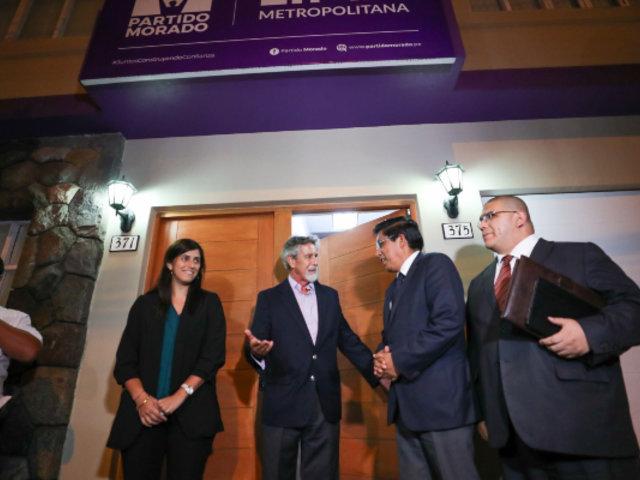 Ejecutivo y Partido Morado centraron su diálogo en temas económicos y judiciales