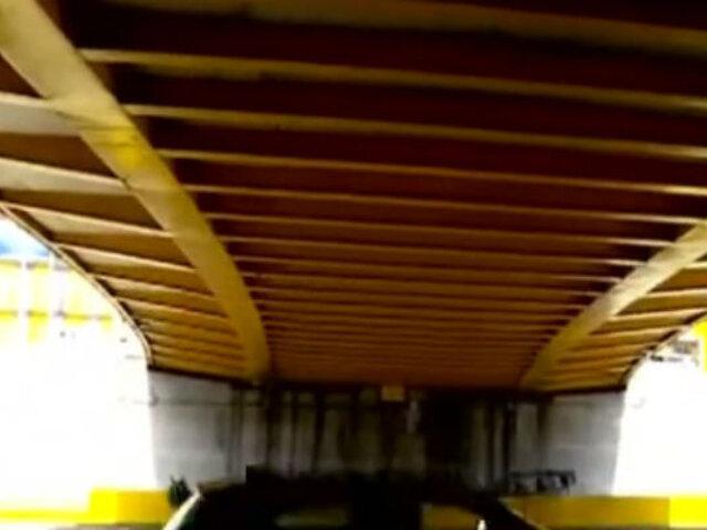 Puente Leoncio Prado sigue con serias deficiencias a solo meses de inaugurado