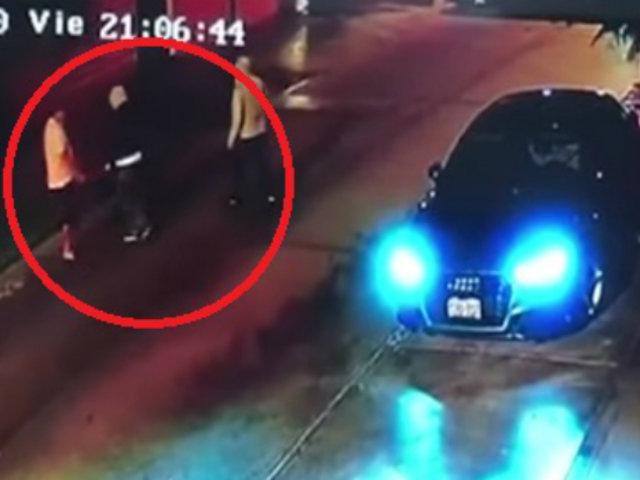 Sujetos armados asaltaron a pareja en calle de Surco