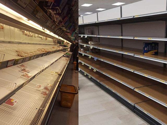 Coronavirus pone en alerta a Italia y reportan desabastecimiento en supermercados y farmacias