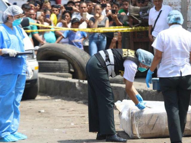 División de Homicidios de la Dirincri investiga caso de mujer hallada muerta en caja