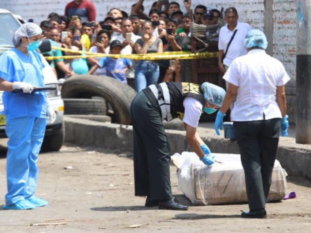 Identifican cuerpo de mujer encontrada en caja de cartón en La Victoria
