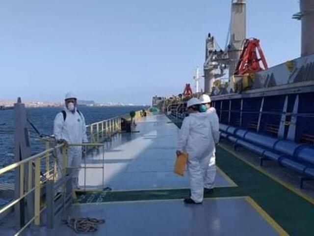 Arequipa: descartan coronavirus en barco chino que llegó a puerto de Matarani