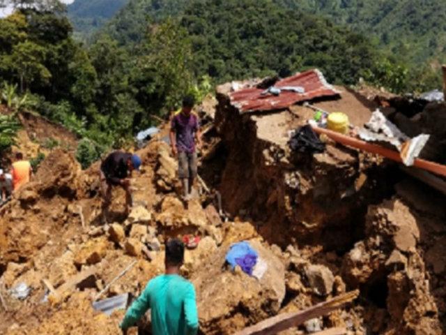 Vientos huracanados y un deslizamiento de tierra golpearon la región Amazonas